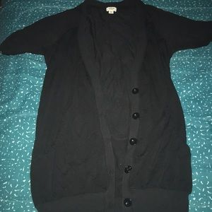 Wilfred Black Short Sleeve Cardigan XXS